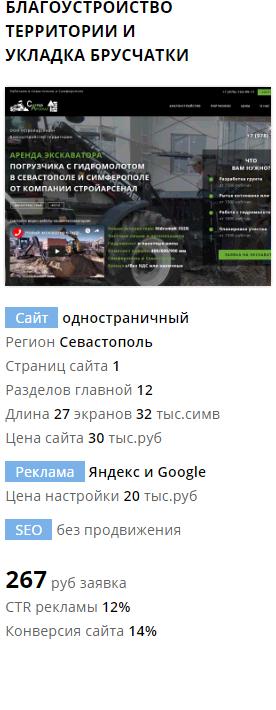 Пример сайта и рекламы благоустройство территории