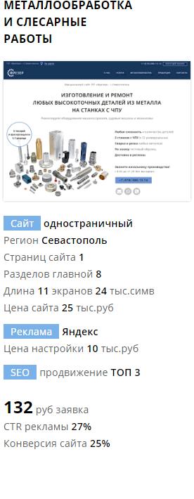 Разработка сайта и реклама мтеллообработка