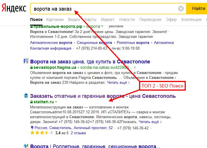 Показатель качественной SEO оптимизации сайта