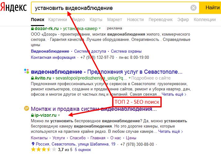 Пример SEO оптимизации сайта под целевой запрос