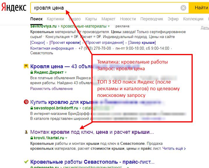 Пример продвижения сайта в ТОП Яндекс